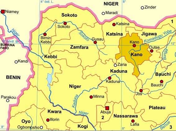 Nigeria-karte-politisch-kano