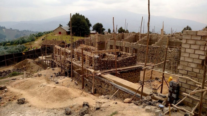 Health Builders' Kintobo Health Center construction site