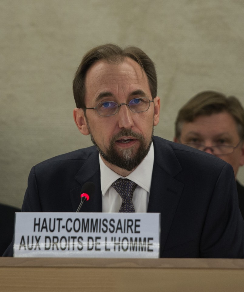 The new U.N. High Commissioner for Human Rights, Mr. Zeid Raad Al Hussein, opened the 27th Session of the Human Rights Council September 8, 2014.  It was High Commissoner Zeid's first address to the Council.U.S. Mission Geneva/ Eric Bridiers;