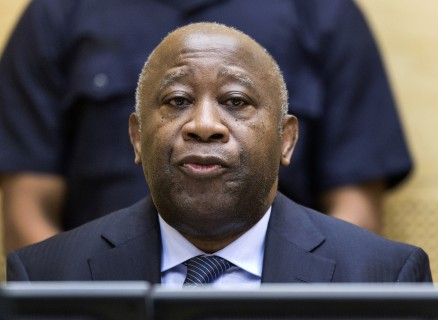FILE - In this Feb. 19, 2013 file photo former Ivory Coast President Laurent Gbagbo attends a confirmation of charges hearing at the International Criminal Court (ICC) in The Hague, Netherlands. Judges at the ICC say on Thursday, June 12, 2014, there is sufficient evidence against former Ivory Coast President Laurent Gbagbo that he must stand trial.  Gbagbo is charged with orchestrating violence carried out by his supporters after Ivory Coast's 2010 elections. He denies wrongdoing. A date for his trial has not yet been set. (AP Photo/Michael Kooren, Pool, File)