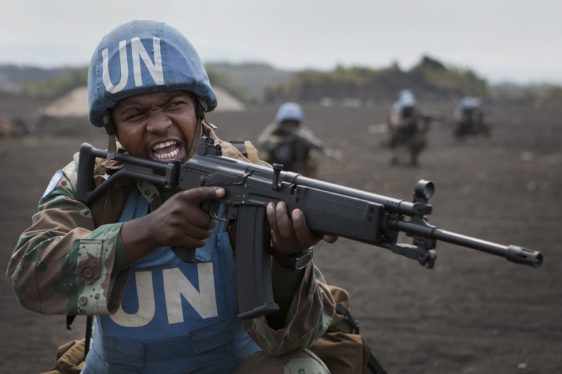 FIB South African soldier during training, Sake, the 17th of July 2013.   © MONUSCO/Sylvain Liechti
