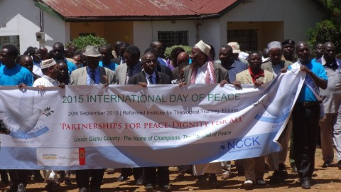 Church leaders, Muslims Imams and community elders participated in a church service during the celebration to mark the International Day of Peace in Kenya last month