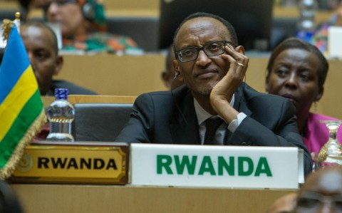 Rwanda president Paul Kagame attends the opening ceremony of the 26 ordinary of the African Summit in Ethiopian capital Addis Ababa  Saturday, Jan. 30, 2016. (AP Photo/Mulugeta Ayene)