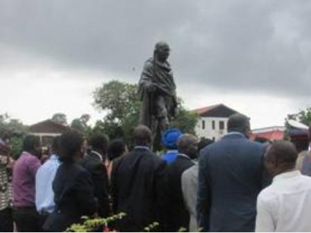 New Gandhi statue protests in U.S. an echo of Ghana's activists