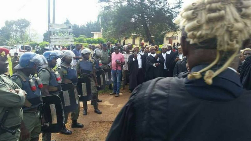 Cameroon: Lawyers call for justice in Anglophone activist trial