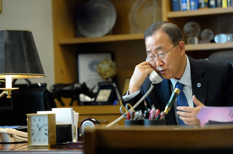 UN's Ban urges peace in phone calls to #Ghana's presidential candidates