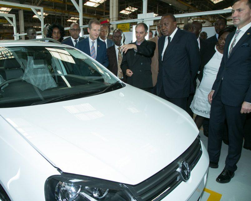 Kenyatta welcomes return of #Volkswagen production to Kenya