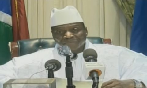 "Jammeh tells Gambians he will ""relinquish the mantle"" of the presidency"