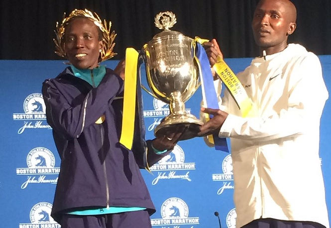 Kenyan athletes take top spots at 2017 Boston Marathon