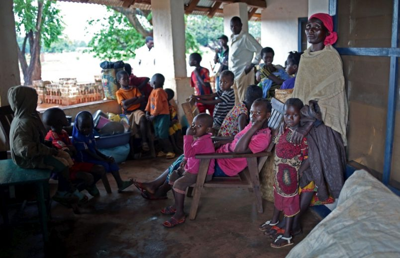 C.A.R refugees fleeing violence into neighboring DR Congo