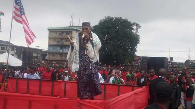 Nigerian army says Kanu-led Biafran activists are militant terrorist group