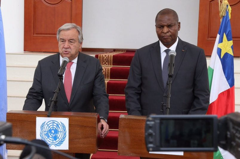 UN's Guterres wraps up visit to Central African Republic