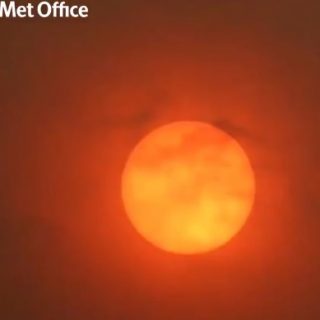 Storm-driven North African dust turns sun red, skies orange in UK