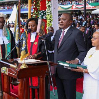 Kenyatta emphasizes health care, open borders in inauguration speech