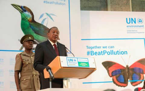 Kenyatta talks pollution in UN Environment Assembly address
