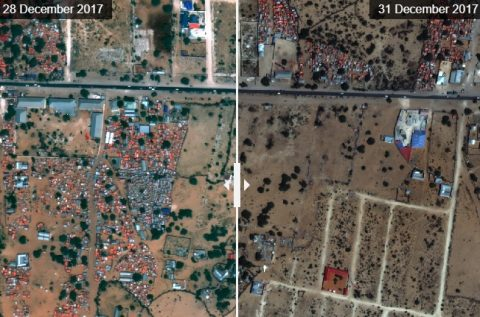 Amnesty satellite images show destruction of Somali IDP settlements