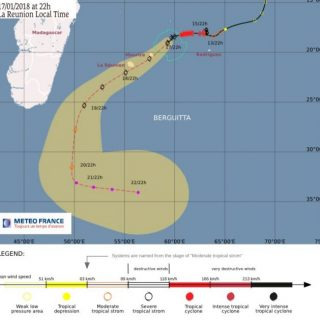 Update: Tropical Storm Berguitta a 'serious threat' to Mauritius