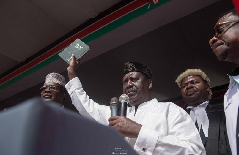 Kenya: Media closure, MP arrest and tear gas follow 'subversive' Odinga swearing-in