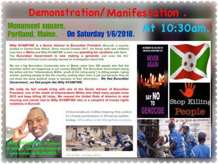 Burundi's Nyamitwe mocks U.S. protesters, again denies genocide reports