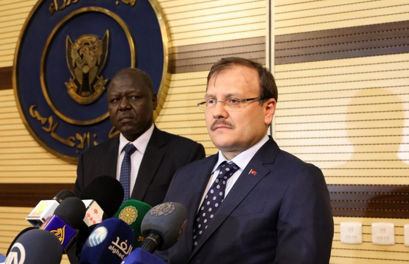 In Sudan, Turkey's Cavusoglu again denies military plan for Suakin