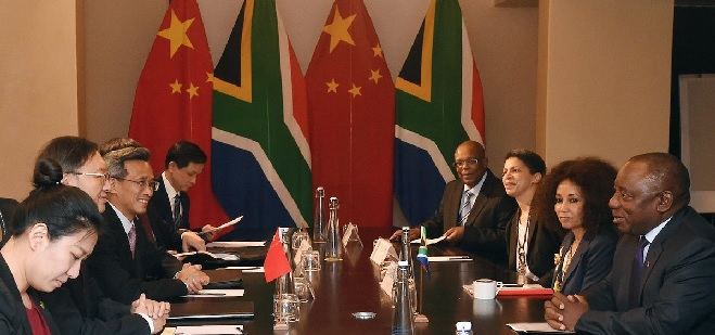 Ramaphosa talks trade as Chinese envoy visits