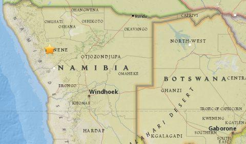 Namibia shaken by 5.0-magnitude quake