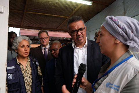 Tedros visits C.A.R. after DRC Ebola assessment