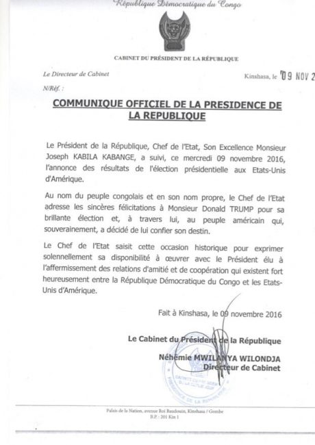 Rwanda, Tanzania, Uganda, Burundi, Gabon: Leaders respond to Trump victory