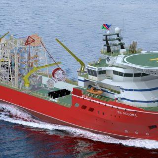 Sea trials begin for new Debmarine Namibia diamond mining ship