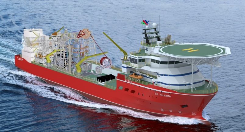 Sea trials begin for new Debmarine Namibia diamond mining ship