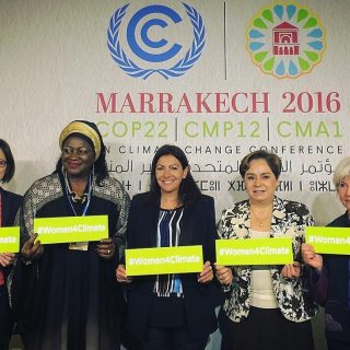 Cameroon's Ketcha Courtes helps launch #Women4Climate at COP22