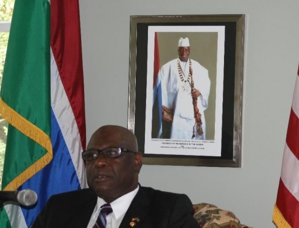 Gambian diplomat Faye 'absolutely' concerned for his safety, his nation
