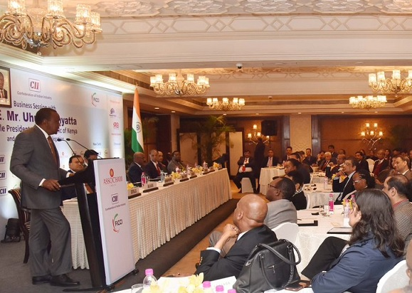 Kenyatta ends India visit with an eye on investment at New Delhi forum