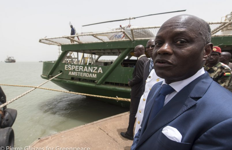 Guinea Bissau: President boards Greenpeace ship to focus on illegal fishing