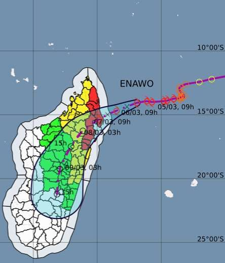 Update: Madagascar issues warnings as strengthening storm Enawo approaches