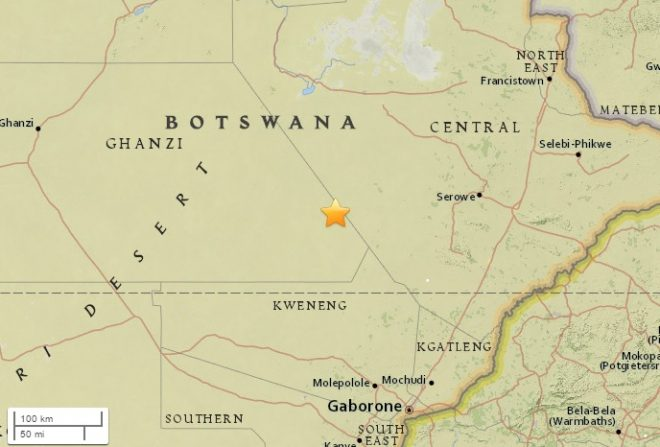 Botswana: 5.0-magnitude aftershock rattles region hit by quake