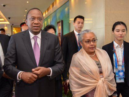 Kenyatta arrives in Beijing for Belt and Road Forum
