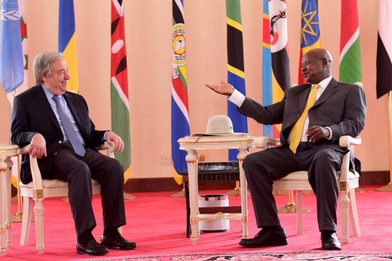 In Uganda, Guterres calls on South Sudan's leaders to end war
