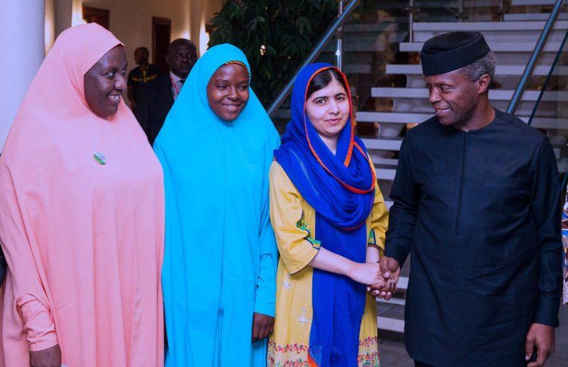 Nigeria: Malala meets with Osinbajo, Chibok girls to press education