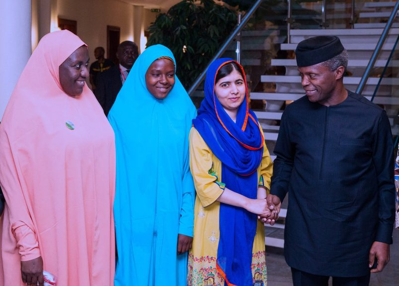 Nigeria: Malala meets with Osinbajo, Chibok girls to press education