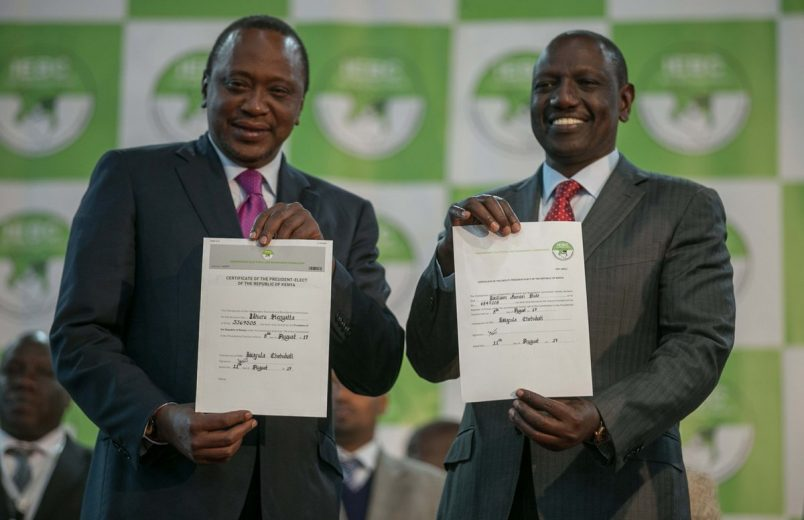 Kenyatta appeals for unity in victory speech, but Odinga rejects results