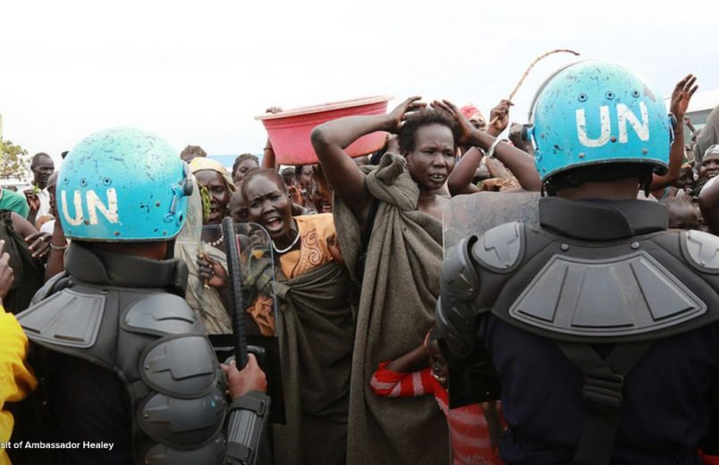 South Sudan: Haley rushed from IDP camp unrest after meeting with Kiir