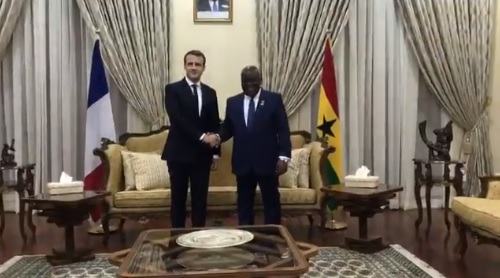 Macron arrives in Ghana after AU-EU summit meets with mixed reviews