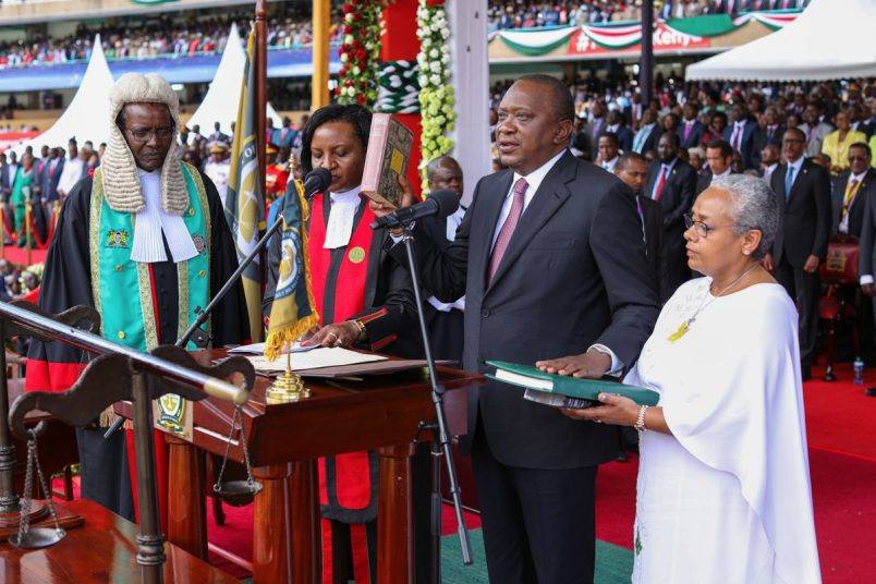 Kenyatta emphasizes health care, open borders in inauguration speech
