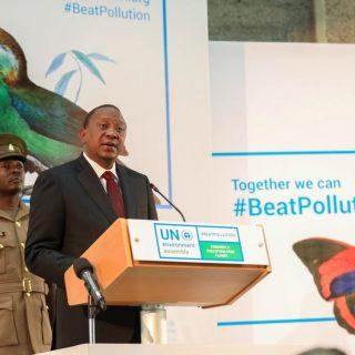 Kenyatta talks pollution in UN Environment Assembly address