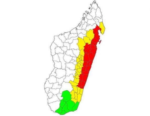 Tropical Cyclone Ava makes landfall on Madagascar