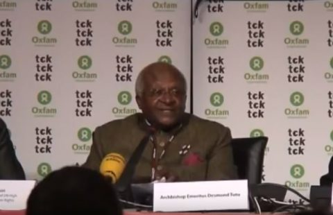 South Africa's Tutu resigns from role with scandal-hit Oxfam