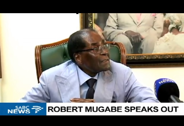 Mugabe calls his ouster a coup, insists Zimbabwe must undo the 'disgrace'