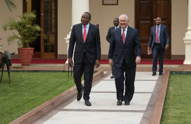 Leaving Kenya, Tillerson heads for Chad, Nigeria