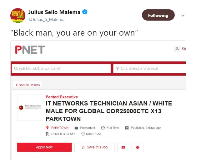 SA company's IT job ad seeks Asian or white male, finds public backlash